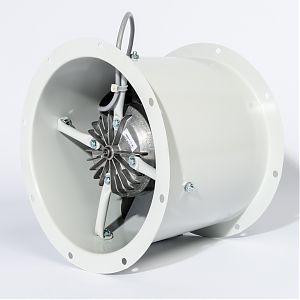 Axialventilator mit breiten Flügeln in Aluminiumrahmenkonstruktion
