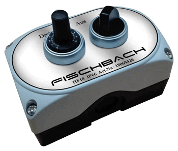Fischbach Setpoint adjuster HF10 IP66 with toggle selector switch 0-I