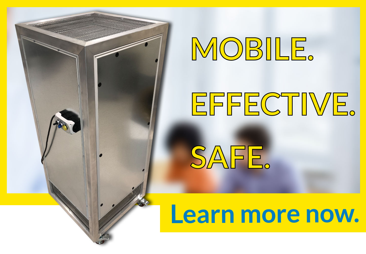 Air Purifier is mobile, effective and safe