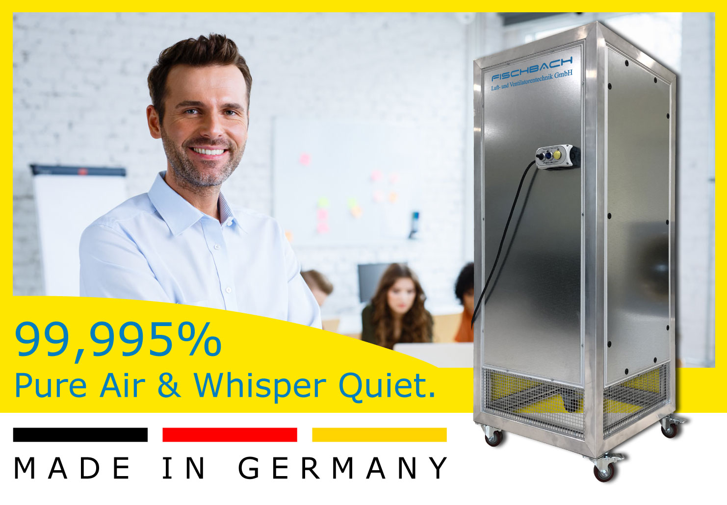 Fischbach Purifier - 99,995% Pure Air - Made in Germany