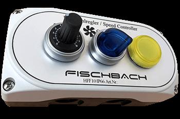 Fischbach Drehzahlregler Potentiometer HF10F mit LED Knebelwahlschalter und LED Kontrollleuchte